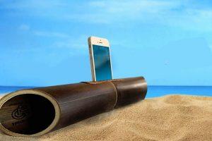 Altavoz para móvil Amalur, amplificador natural de bambú con una acústica que enamora