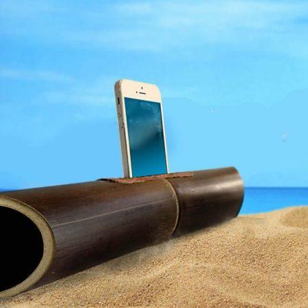 Regalo personalizado - Amalur: Amplificador de bambú para móviles