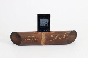 Regalo personalizado - Altavoz de bambú Amalur tallado - ISLAS CANARIAS