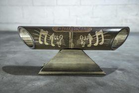 Altavoz de bambú Amalur modelo tallado NOTAS MUSICALES