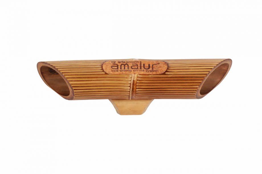 Altavoz de bambú Amalur - Bambú oscuro - RAYADO