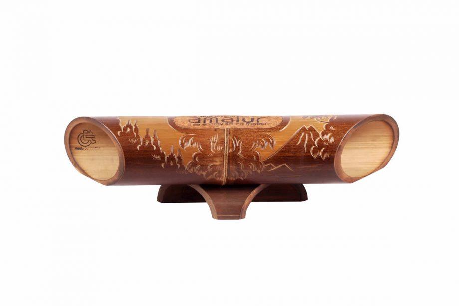 Altavoz de bambú Amalur - tallado BOROBUDUR