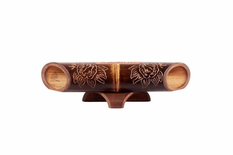 Altavoz de bambú Amalur - tallado ROSA