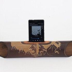AMALUR bamboo speaker carved - BOROBUDUR