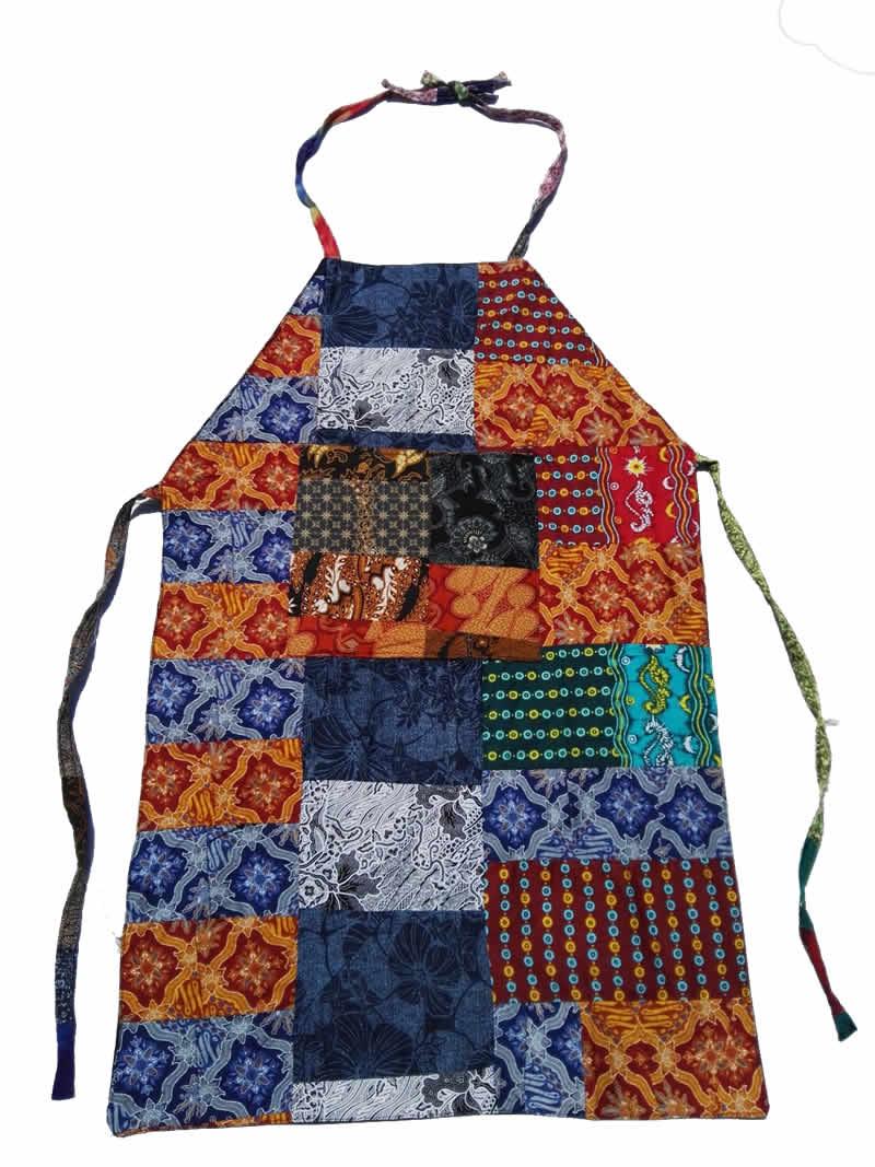 Delantal de cocina confeccionado en patchwork celemek - Patchwork para cocina ...