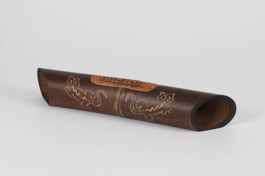 Amalur bamboo speaker carved - SARGANTANA