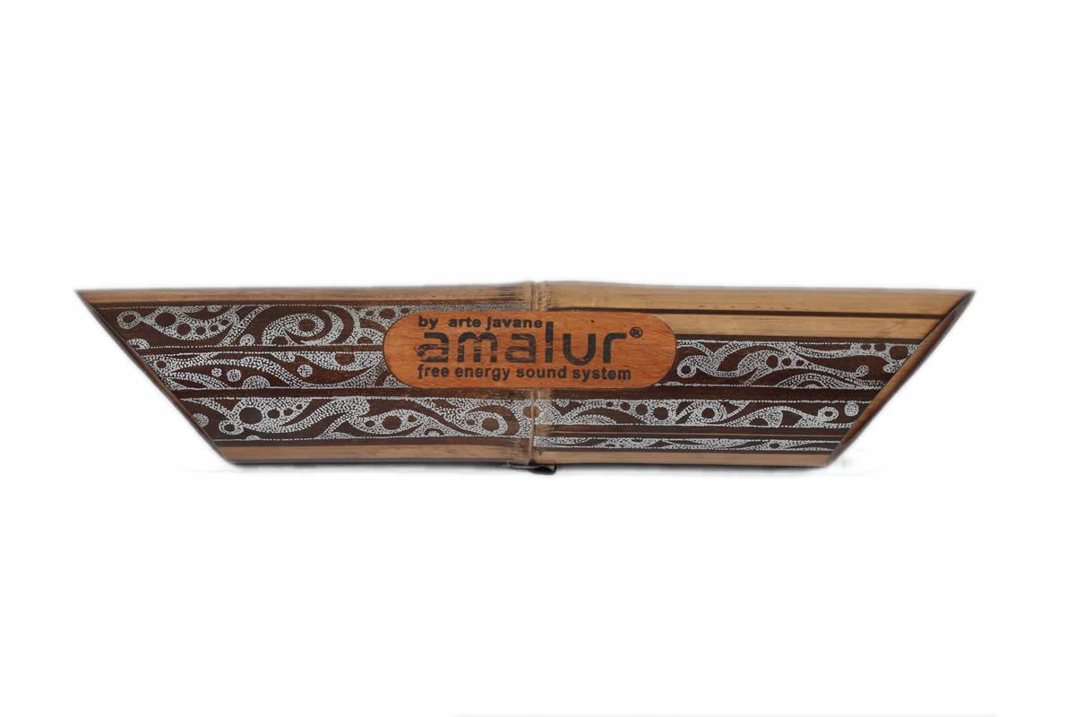 Amalur bamboo speaker - Silver tribal - Hendrick Muntu