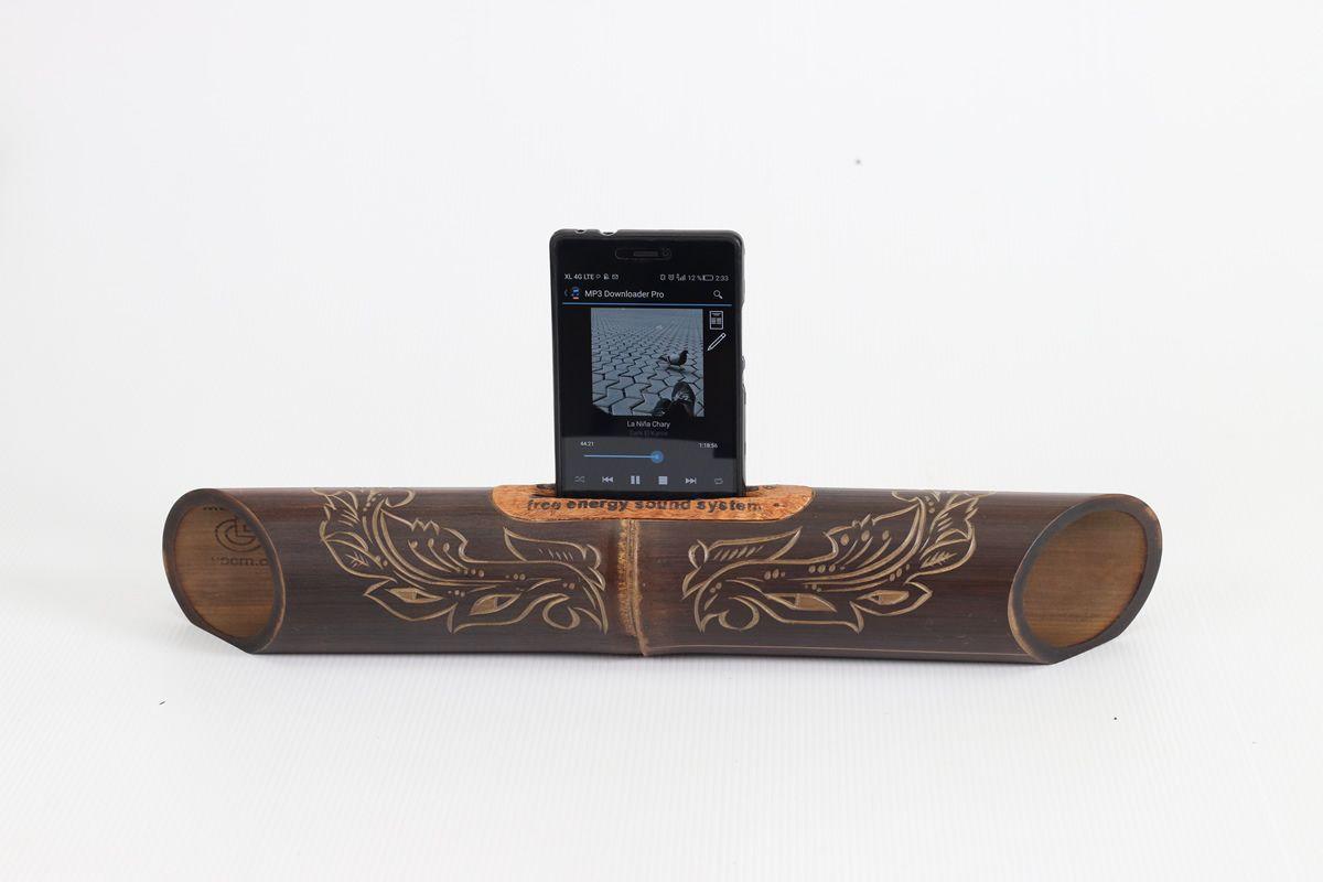 AMALUR bamboo speaker carved - JAVANES