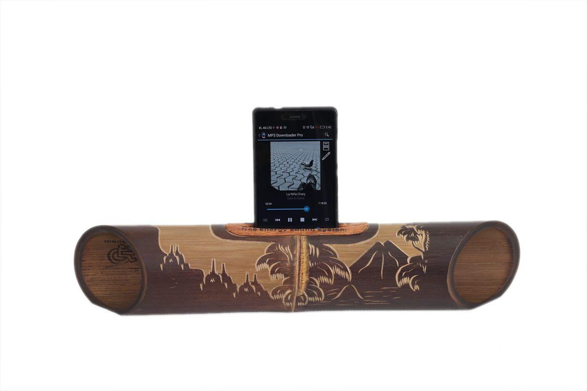 Amalur bamboo speaker - carved  BOROBUDUR